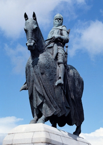 Statue of Robert Bruce at Bannockburn
